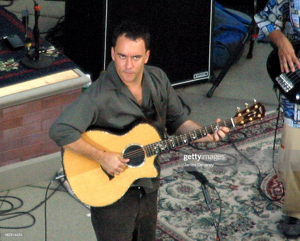 Dave Matthews during Dave Matthews Band Performs on the Roof of the Ed Sullivan Theatre for The Late Show with David Letterman - July 15, 2006 at Ed Sullivan Theatre in New York City, New York, United States.
