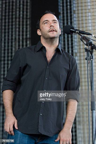 Dave Matthews introduces the band Umphrey's McGee at the start of the concert on August 17 2007 in Noblesville Indiana