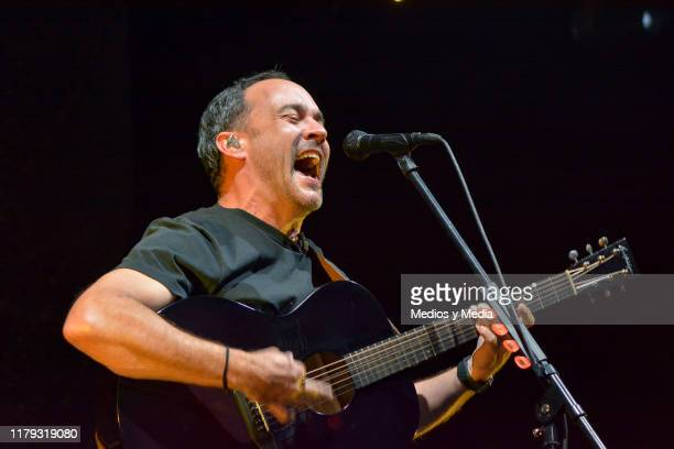 Dave Matthews leader and vocalist of the band sang and play guitar during a show at Arena Ciudad de Mexico on October 5 2019 in Mexico City Mexico