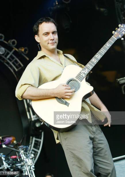 Dave Matthews of Dave Matthews Band during Dave Matthews Band in Concert in Kansas City on July 12 2003 at Verizon Wireless Amphitheater in Bonner...