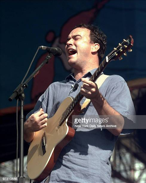 Dave Matthews of the Dave Matthews Band performing at Woodstock '99 in Rome NY