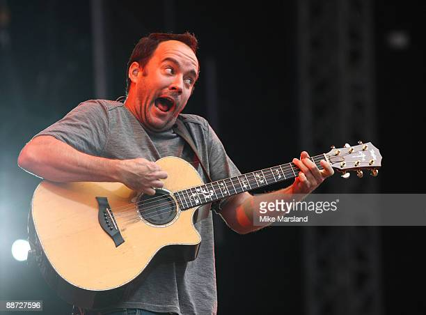 Dave Matthews of 'The Dave Matthews Band' performs on day three of Hard Rock Calling at Hyde Park on June 28 2009 in London England