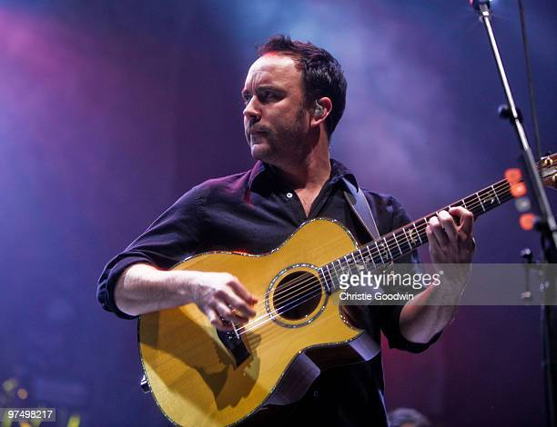 Dave Matthews of the Dave Matthews Band performs on stage at O2 Arena on March 6 2010 in London England