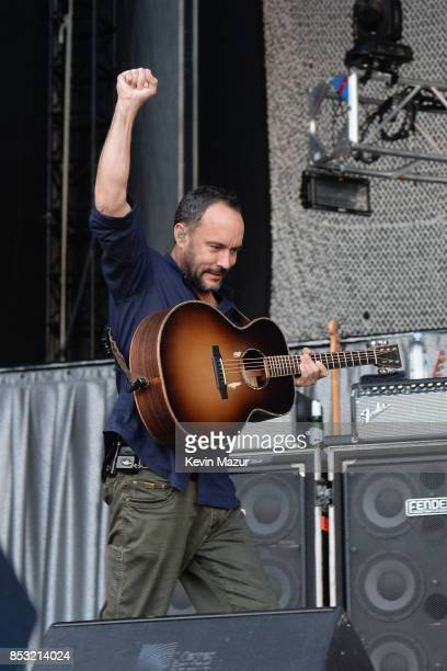 Dave Matthews performs at 'A Concert for Charlottesville' at University of Virginia's Scott Stadium on September 24 2017 in Charlottesville Virginia...