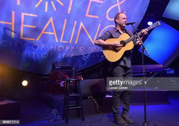 Dave Matthews performs at MFEI Spirit Of Life Honoring Coran Capshaw on November 2 2017 in Santa Monica California
