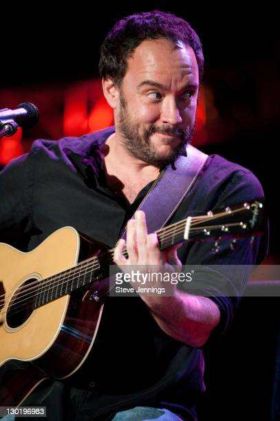 Dave Matthews performs at the 25th Annual Bridge School Benefit Concert at Shoreline Amphitheatre on October 23, 2011 in Mountain View, California.