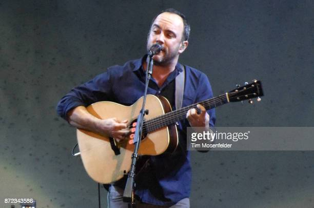 Dave Matthews performs during Band Together Bay Area Fire Benefit Concert at ATT Park on November 9 2017 in San Francisco California