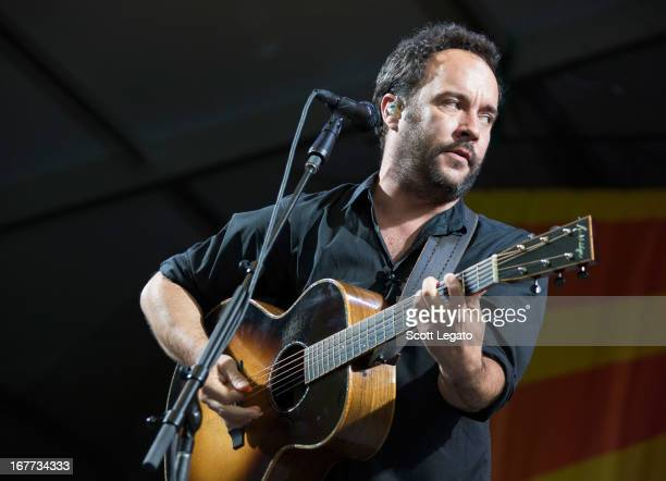 Dave Matthews performs during the 2013 New Orleans Jazz Heritage Music Festival at Fair Grounds Race Course on April 28 2013 in New Orleans Louisiana