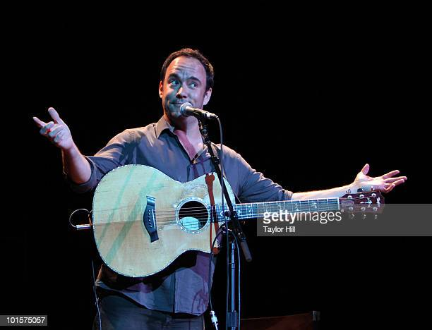 Dave Matthews performs during the Music Saves Mountains benefit concert at the Ryman Auditorium on May 19 2010 in Nashville Tennessee