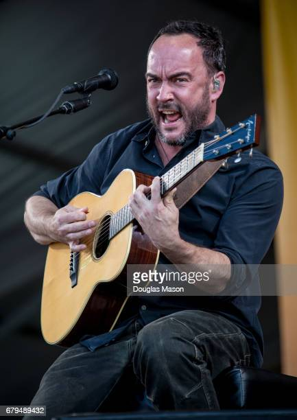 Dave Matthews performs during the New Orleans Jazz Heritage Festival 2017 at Fair Grounds Race Course on May 5 2017 in New Orleans Louisiana