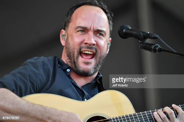 Dave Matthews performs onstage during day 5 of the 2017 New Orleans Jazz Heritage Festival at Fair Grounds Race Course on May 5 2017 in New Orleans...