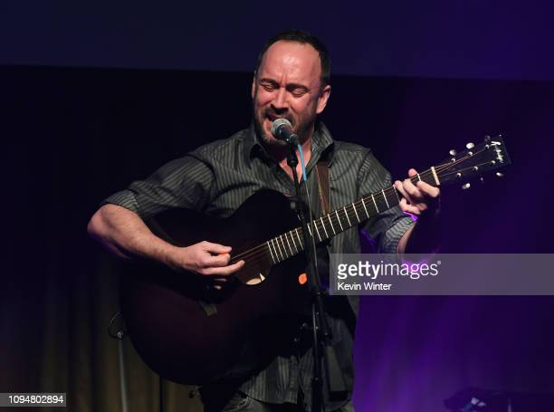 Dave Matthews performs onstage during the Producers Engineers Wing 12th annual GRAMMY week event honoring Willie Nelson at Village Studios on...