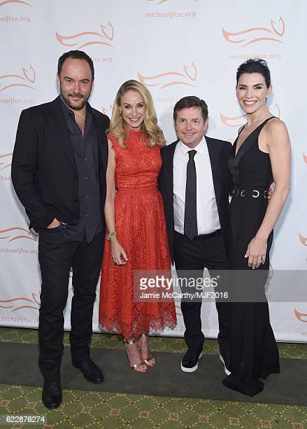 Dave Matthews Tracy Pollan Michael J Fox and Julianna Margulies attend Michael J Fox Foundation's 'A Funny Thing Happened On The Way To Cure...