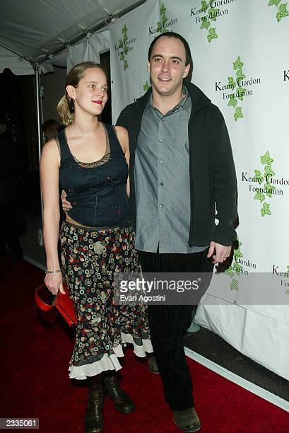 Dave Matthews with pregnant wife Jennifer arriving at a Confessions Of A Dangerous Mind special screening afterparty to benefit The Kenny Gordon...