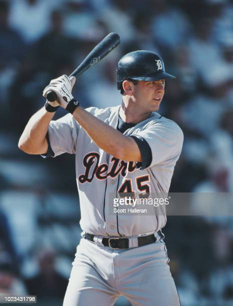 Dave McCarty Outfielder and First Baseman for the Detroit Tigers at bat during the Major League Baseball Spring Training game against the Pittsburgh...
