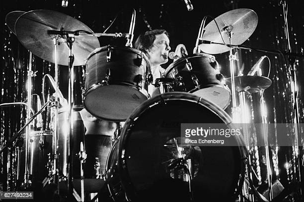 Dave Mount of English glam rock band Mud performs on stage in Leicester United Kingdom 1976