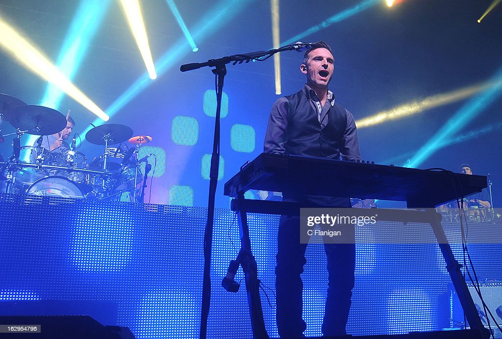 Dave Murphy of Sound Tribe Sector 9 (STS9) performs at The Fox Theatre on March 1, 2013 in Oakland, California.