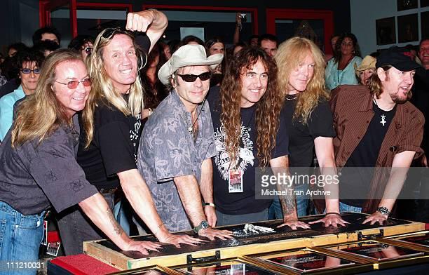 Dave Murray Nicko McBrain Bruce Dickinson Steve Harris Janick Gers and Adrian Smith of Iron Maiden