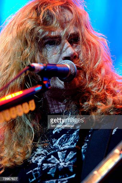 Dave Mustaine and Megadeth perform in support of the bands 'United Abominations' release at the HP Pavilion on April 24 2007 in San Jose California