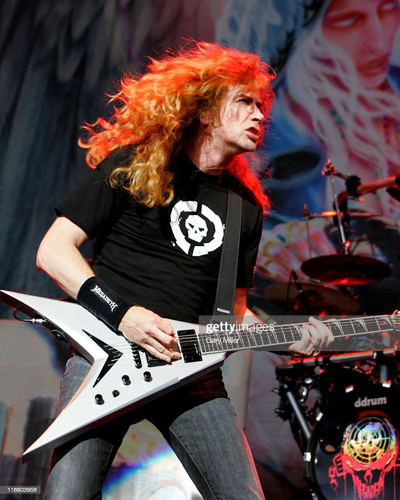 Dave Mustaine of Megadeth during Heaven and Hell Tour 2007 at the Verizon Wireless Amphitheater in San Antonio - May 1, 2007 at Verizon Wireless Amphitheater in San Antonio, Texas, United States.