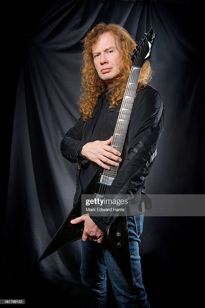 Dave Mustaine of 'Megadeth' is photographed at the Quebec Music Festival in Quebec City for Self Assignment on July 16, 2015.