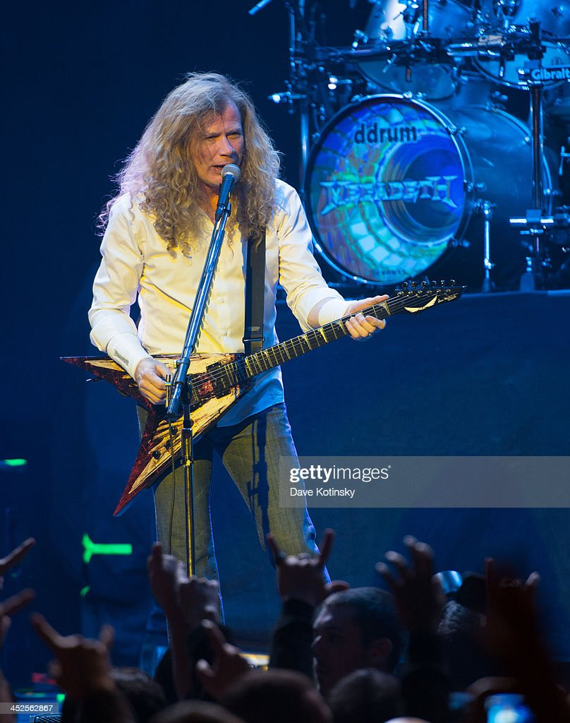Dave Mustaine of Megadeth performs at The Wellmont Theatre on November 29, 2013 in Montclair, New Jersey.