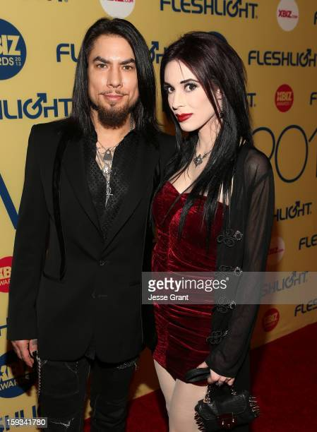 Dave Navarro and Aiden Ashley attend the 2013 XBIZ Awards at the Hyatt Regency Century Plaza on January 11 2013 in Los Angeles California