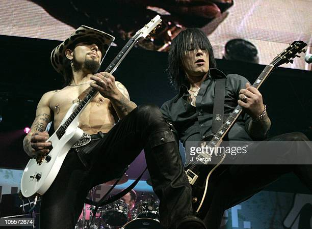 """Dave Navarro and Billy Morrison during All Star """"Music For Relief: Rebuilding South Asia"""" Benefit Concert - Show at Arrowhead Pond in Anaheim,..."""