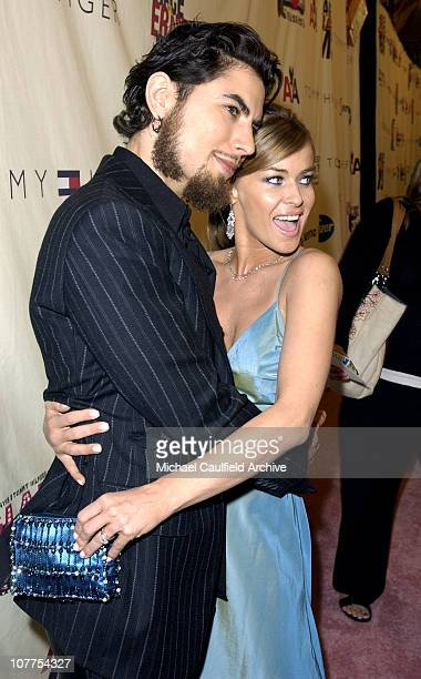 Dave Navarro and Carmen Electra during 11th Annual Race to Erase MS Red Carpet at Century Plaza Hotel in Century City California United States