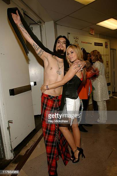 Dave Navarro and Carmen Electra during 12th Annual Race to Erase MS CoChaired by Tommy Hilfiger and Nancy Davis Backstage and Audience at The Westin...