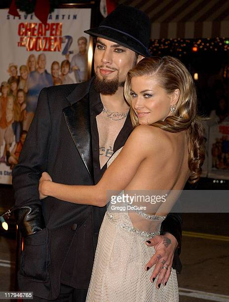 Dave Navarro and Carmen Electra during 'Cheaper by the Dozen 2' Los Angeles Premiere Arrivals at Mann Village Theatre in Westwood California United...