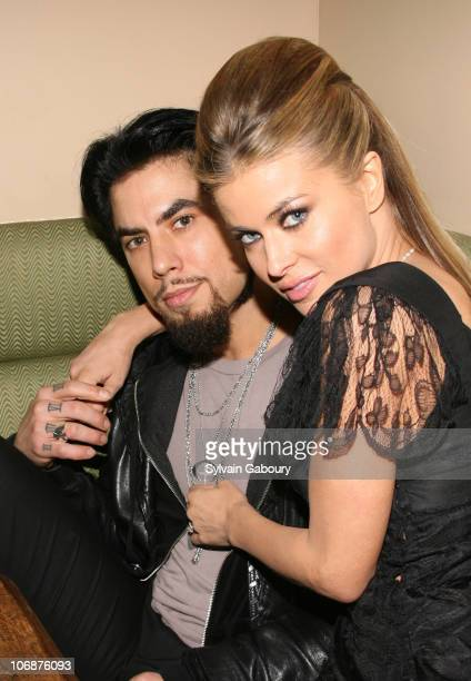 "Dave Navarro and Carmen Electra during Dimension Films' ""Scary Movie 4"" inside afterparty at Providence in New York, New York, United States."