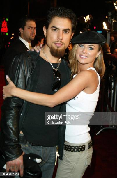 Dave Navarro and Carmen Electra during Premiere of Femme Fatale at Cinerama Dome in Hollywood CA United States