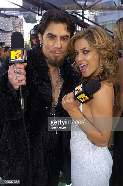 Dave Navarro and Carmen Electra during The 46th Annual Grammy Awards Arrivals at Staples Center in Los Angeles California United States