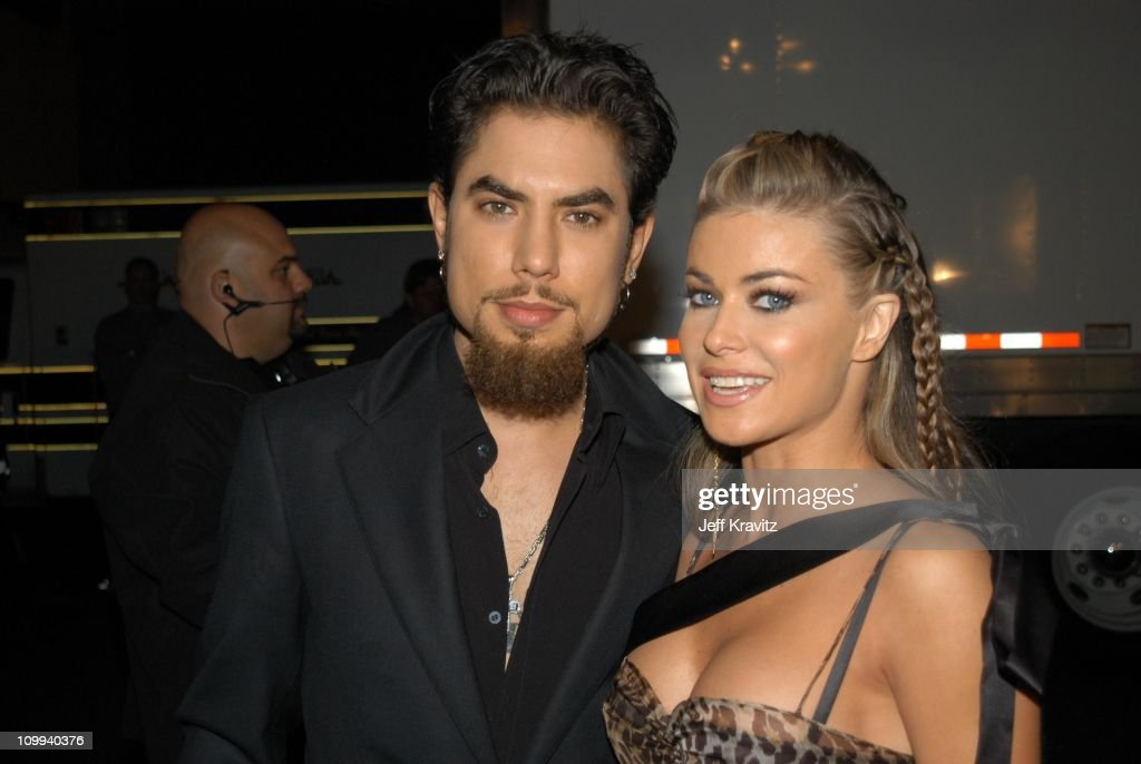 Dave Navarro and Carmen Electra during VH1 Big in 2002 Awards - Arrivals at Grand Olympic Auditorium in Los Angeles, CA, United States.