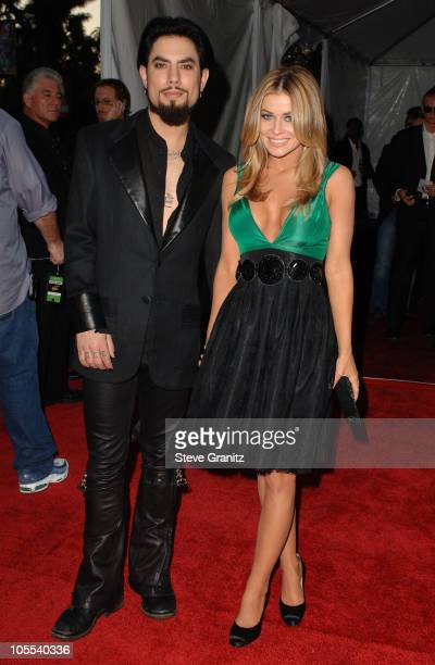 Dave Navarro and Carmen Electra presenters during 33rd Annual American Music Awards Arrivals at Shrine Auditorium in Los Angeles California United...
