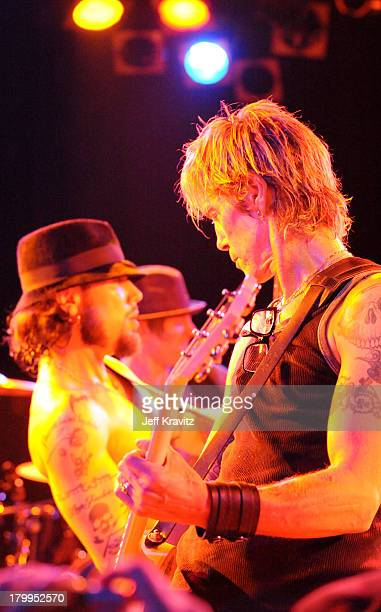Dave Navarro and Duff McKagan performs at The Camp Freddy Concert at The Roxy on December 2 2008 in Hollywood