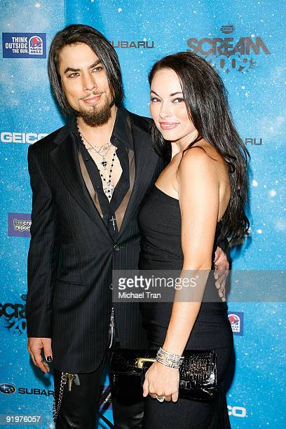 Dave Navarro and guest arrive to Spike TV's 2009 Scream Awards held at The Greek Theatre on October 17 2009 in Los Angeles California