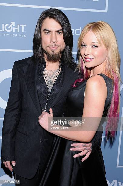 Dave Navarro and host Kayden Kross attend the 10th Annual XBIZ Awards at The Barker Hanger on January 10 2012 in Santa Monica California
