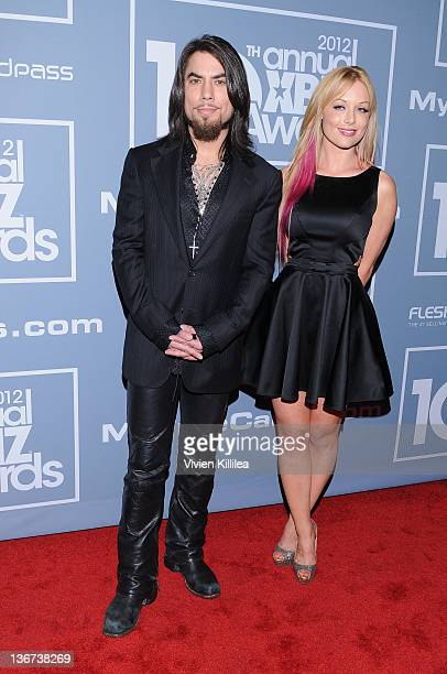 Dave Navarro and host Kayden Kross attend the 10th Annual XBIZ Awards at The Barker Hanger on January 10, 2012 in Santa Monica, California.