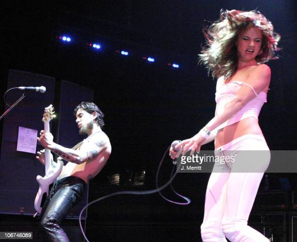 Dave Navarro and Juliette Lewis during Camp Freddy in Concert with Suicide Girls Sponsored by Indie 1031 Arrivals and Show at Avalon in Hollywood...