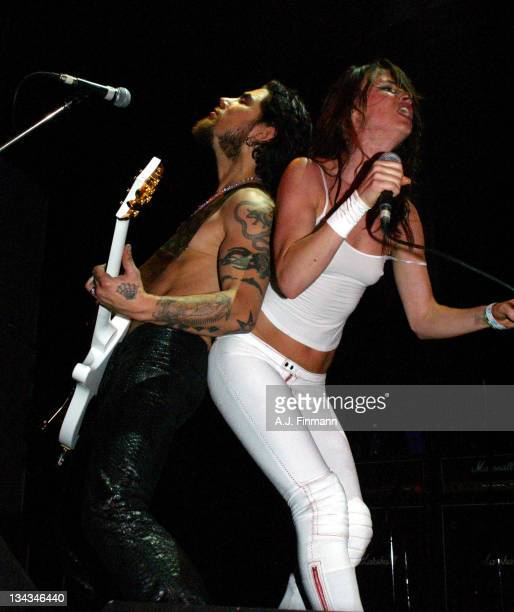 Dave Navarro and Juliette Lewis during Camp Freddy in Concert with Suicide Girls Sponsored by Indie 1031 Show at Avalon Hollywood in Hollywood...