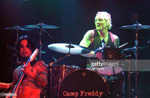 Dave Navarro and Matt Sorum during Camp Freddy Benefit Concert for South East Asia Tsunami Relief at Key Club in Hollywood California United States