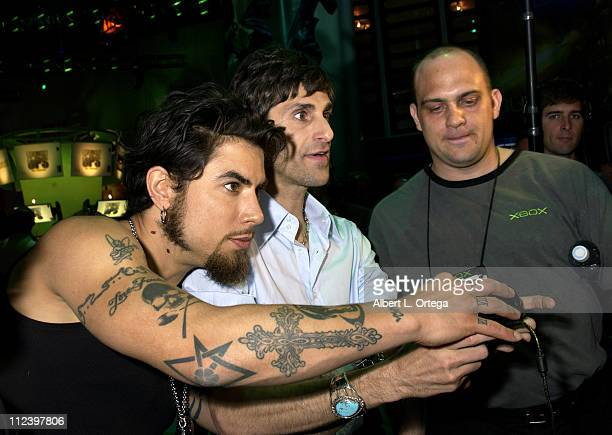 Dave Navarro and Perry Farrell during E3 Interactive Digital Software Association's Electronic Entertainment Expo 2003 Day 3 at Los Angeles...