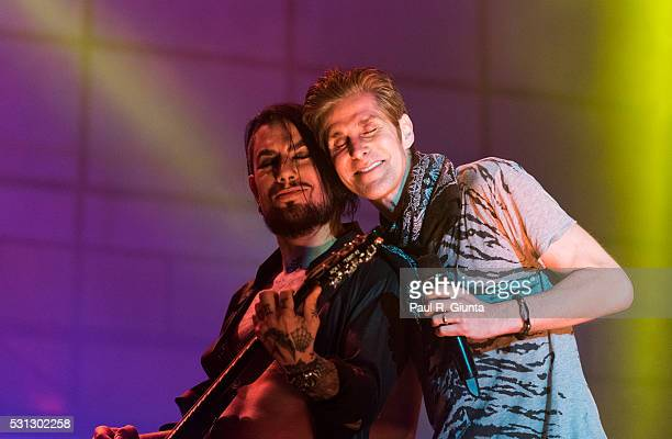 Dave Navarro and Perry Farrell of Jane's Addiction perform on stage at Centennial Olympic Park on May 13 2016 in Atlanta Georgia