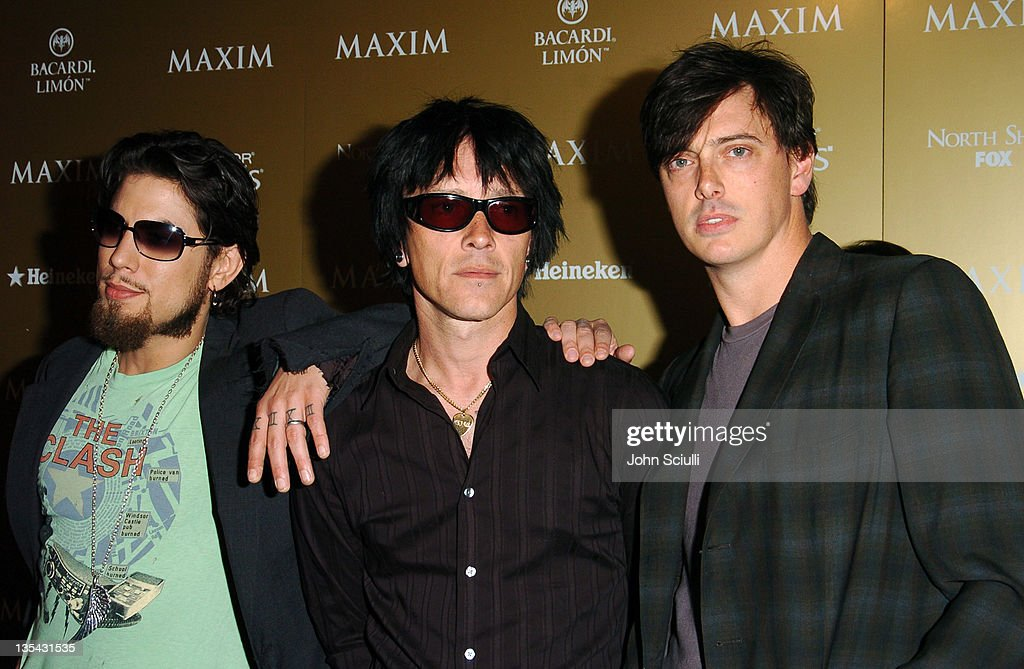 Dave Navarro, Billy Morrison and Donovan Leitch of Camp Freddy
