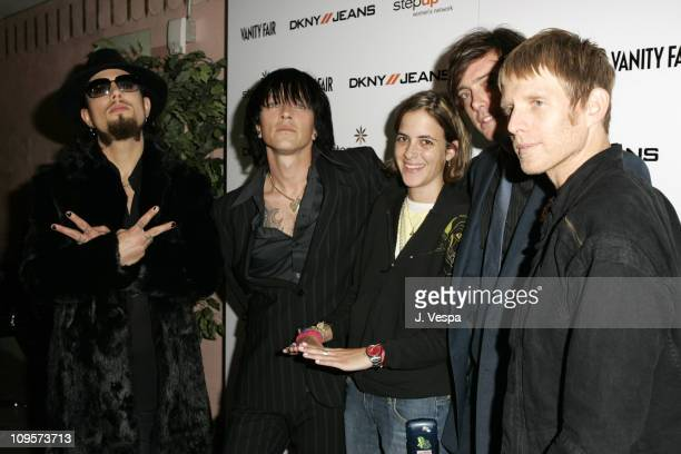 Dave Navarro Billy Morrison Samantha Ronson Donovan Leitch and Chris Chaney at the DKNY//Jeans Presents Vanity Fair In Concert to benefit the Step Up...