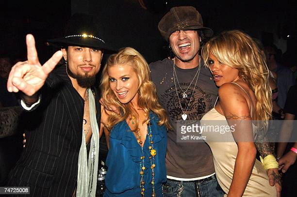 Dave Navarro Carmen Electra Tommy Lee and Pamela Anderson at the Rokbar Hollywood Launch Party Inside at Rokbar in Los Angeles California