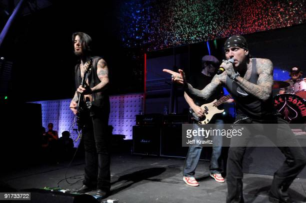 Dave Navarro Chris Chaney and Evan Seinfeld performs at The Surfrider Foundation's 25th Anniversary Gala at the California Science Center's Wallis...