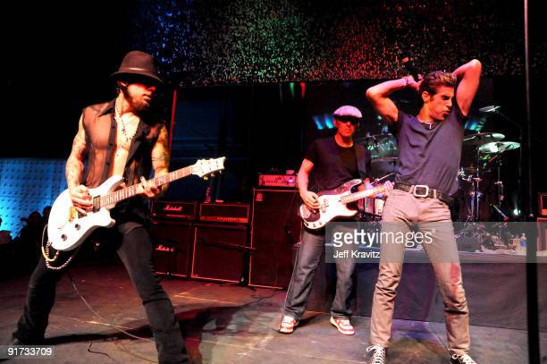 Dave Navarro Chris Chaney and Perry Farrell performs at The Surfrider Foundation's 25th Anniversary Gala at the California Science Center's Wallis...